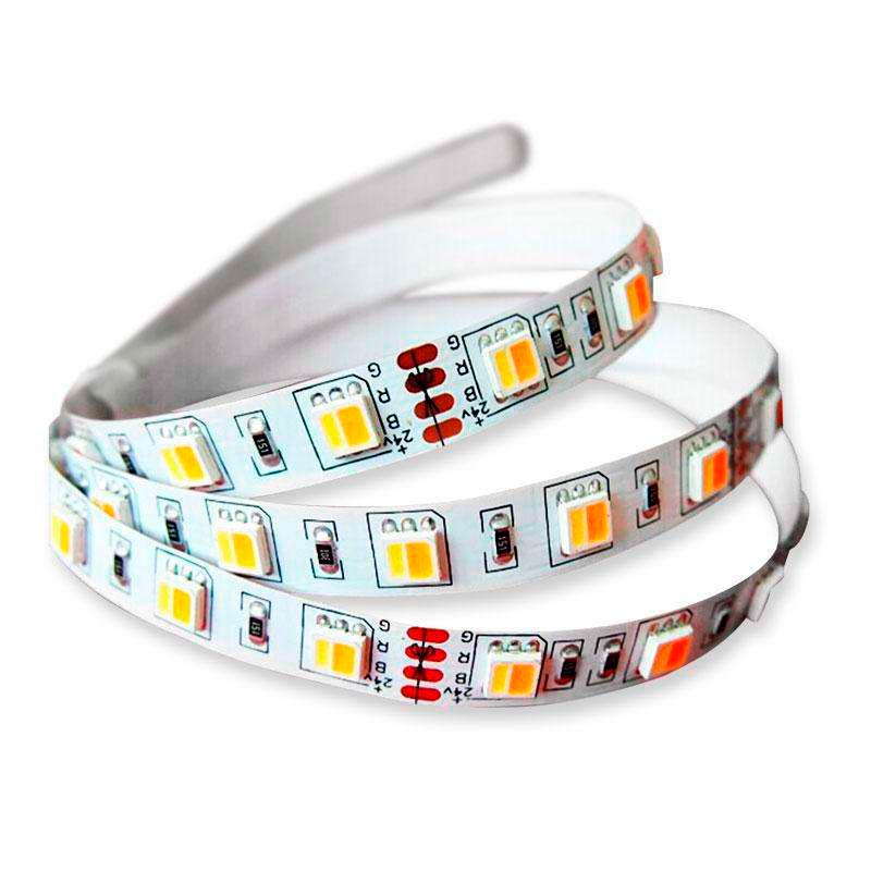 Tira LED FOOD Tricolor SMD5050, DC24V, 5m (60 Led/m) - IP20, Blanco tricolor